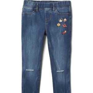 Gap girls skinny jeans with pins